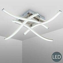 B.k.licht - Plafonnier LED design 4 LED lustre