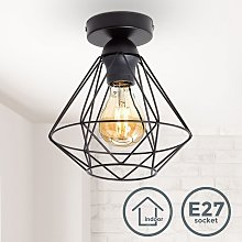 B.k.licht - Plafonnier métal design rétro
