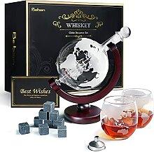 Baban Whisky Decanter Globe, Hommes Carafes à