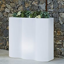 Bac à fleurs rectangulaire lumineux jardinière