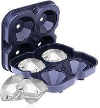 Bac à glaçons en Silicone en forme de diamant,