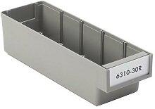 bac d'étagère en plastique recyclé 15l gris