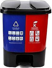Bac de recyclage de type pédale, plastique