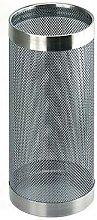 bac porte-parapluie métal perforé chromé