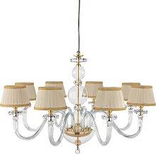 BACH lampe à suspension avec abat-jour en verre