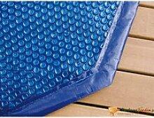 Bâche à bulles bordée pour piscine octogonale