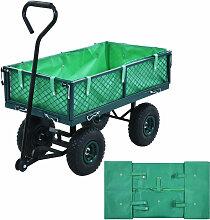 Bache de chariot de jardin Vert Tissu