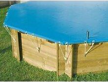 Bâche de piscine et sécurité rectangle 350x505