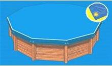 Bâche hiver Eco bleue compatible piscine Ubbink
