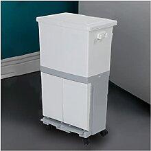 Bacs à ordures 4 5L / 60L Poubelle de déchets de