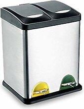Bacs à ordures Collecteur de poubelles à double