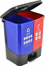 Bacs à ordures Double bac de recyclage double