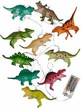 Bada Bing Guirlande lumineuse à 10 LED dinosaures