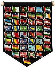Badge de drapeau, broche, épinglettes natales,