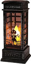 Bagalqio Halloween Lanterne Flamme Bougeoir Lampe