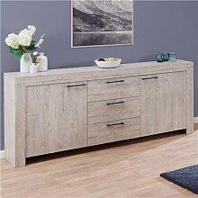 Bahut 210 cm contemporain couleur bois clair