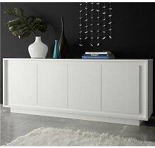 bahut blanc laqué mat design OLIVIA-L 207 x P 50