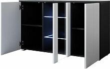 Bahut modèle Luke A1 (120x70cm) couleur noir et