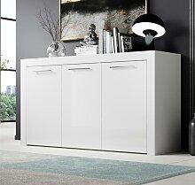 Bahut modèle Nelia couleur blanc