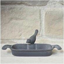 Bain d'oiseaux fonte gris 26 cm 11075-BIS