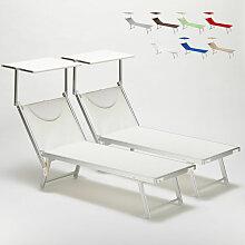 Bain de soleil Chaise longue transats aluminium