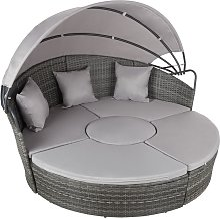 Bain de soleil rond modulable ZANZIBAR - chaise