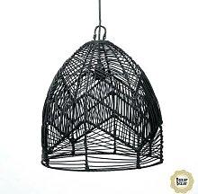 BALA M-Suspension Rotin Ø40cm Noir Bazar Bizar