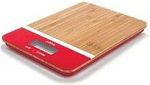 Balance de cuisine bambou rouge rectangulaire