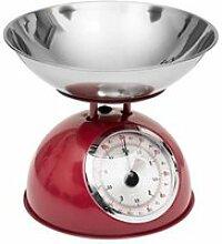 Balance de cuisine rétro rouge 5kg