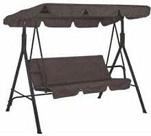 Balancelle 3 places avec toit pare-soleil amovible