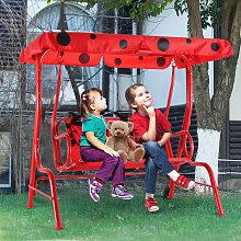 Balancelle de Jardin pour Enfants 2 Places,Toit