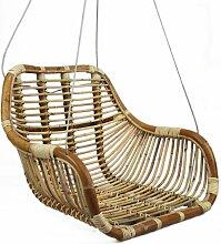 Balancelle fauteuil suspendu  bois clair