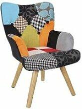 Balder - fauteuil enfant scandinave motif patchwork