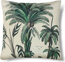 Bali - Coussin imprimé palmier 45x45cm