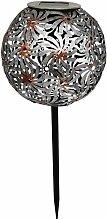 Balise solaire décorative WINDY gris acier H43cm