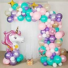 Ballon 156pcs Licorn Parti anniversaire Ballon Arc