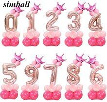 Ballon avec chiffres et lettres de joyeux Noël à