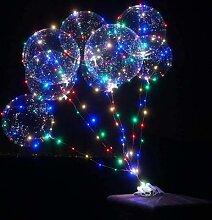 Ballons Bobo à hélium Led transparents, 10