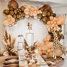 Ballons en Latex café DIY 124 pièces, guirlande