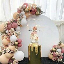 Ballons macaron en arc, 100 pièces, kit de