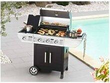 BALTIMORE Barbecue gaz 3 feux + réchaud latéral