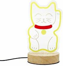 Balvi Lampe à Poser Lucky Cat Couleur Jaune