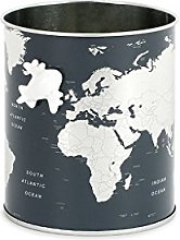 Balvi Pot à Crayons Globe Couleur Gris Carte du