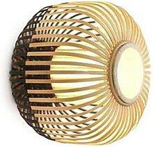 BAMBOO-Applique ou Plafonnier Bambou Ø35cm Noir