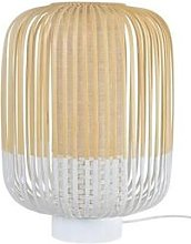 BAMBOO-Lampe à poser Bambou H39cm Blanc Forestier
