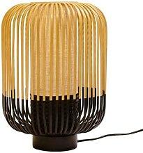 BAMBOO-Lampe à poser Bambou H39cm Noir Forestier