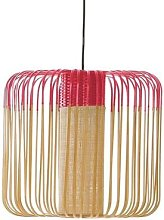 BAMBOO M-Suspension Bambou Ø45cm H40cm Rouge