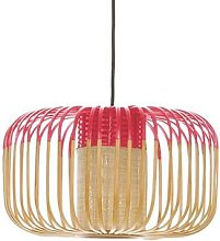 BAMBOO S-Suspension Bambou Ø35cm H23cm Rouge