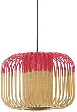 BAMBOO XS-Suspension Bambou Ø27cm H20cm Rouge