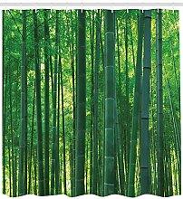 Bambou Exotique Sauvage Vert Impression HD, Rideau
